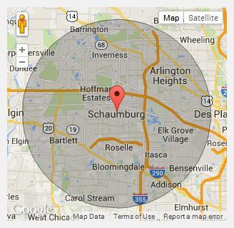Schaumburg Illinois Map.About Us Schaumburg Dumpster Rental